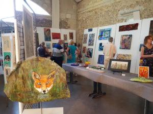 exposition atelier d'expression dessin peinture mairie eysines bordeaux atelier adultes enfants handicapé adolescent