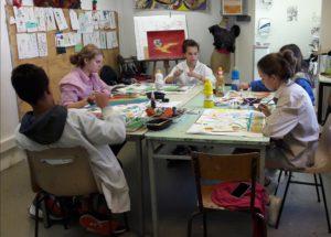 dessin peinture arts plastisues eysines enfants adultes handicapées culture bordeaux