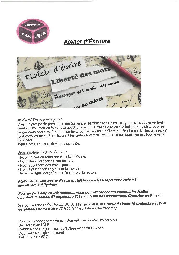 Atelier D'Ecriture