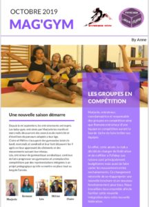 magazine gymnastique sports Mairie Eysines Bordeaux Bruges Le Haillan Blanquefort Bordeaux